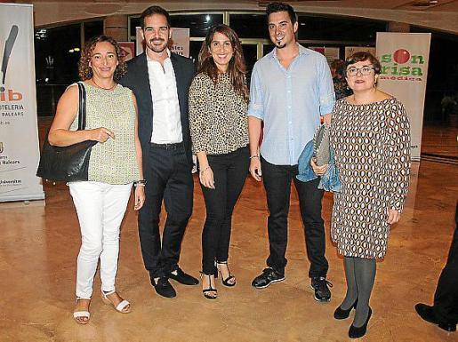 Concepción Carrió, Gustavo Villa, Francisca Sánchez, Rafael Roig y Margalida Oliver.
