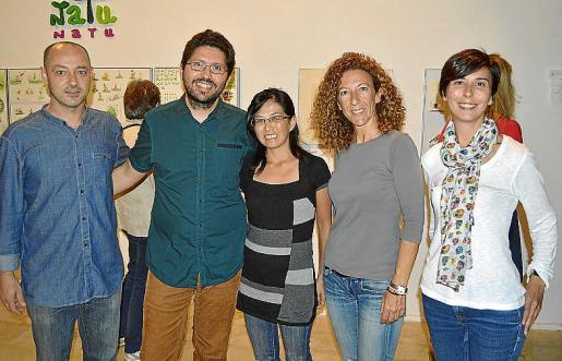Tomeu Simonet, Fran Bravo, Toshie Ooue, Aina Munar y Antònia Martorell.