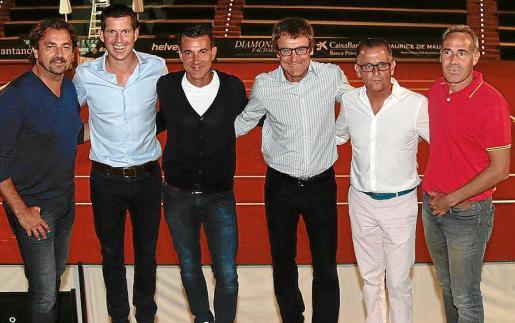 Henry Laconte, Tim Henman, Carl-Uwe Steeb, Matis Wilander, Mikael Pernfors y Àlex Corretja. Fotos: Pere Bota/ Jaume Morey