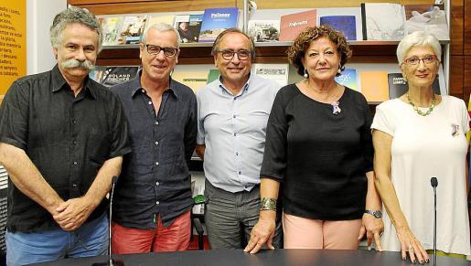 Benet Bohigas, Miquel Àngel Lladó, Miguel Ángel Benito, Francisca Llabrés y Eusebia Rayó.