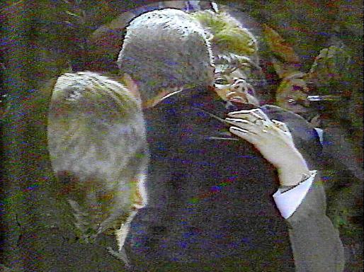 Encuentro filmado por la CNN entre Clinton y Lewinsky, escándalo que saltó a la opinión pública en 1998.