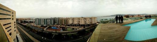 Vista desde la azotea del Palacio de Congresos de Palma.