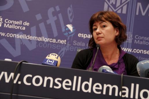 La presidenta del Consell de Mallorca, Francina Armengol,