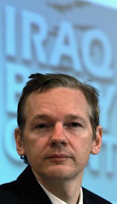 Julian Assange, fundador de WikiLeaks, durante una conferencia.