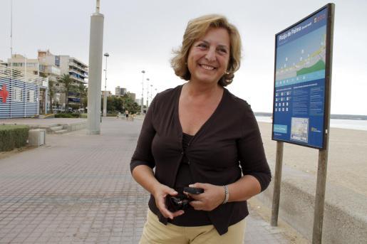 Margarita Nájera, en la Platja de Palma.