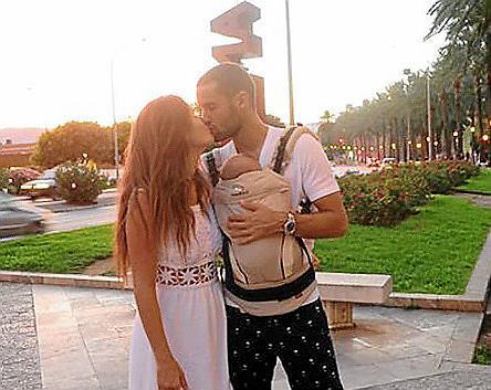 Malena y Mario, en una fotografía tomada este verano junto a su hija.