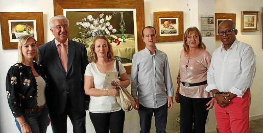Antonia Suñer, Gaspar Oliver, Joana Maria Jaume, Joan Barros, Cati Aguiló y Silvio García.
