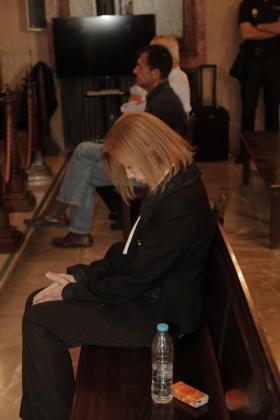 Maria Antònia Munar, en el banquillo, durante el juicio por el caso 'Can Domenge.