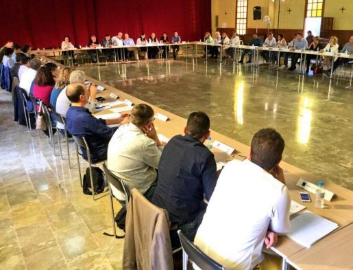 Momento de la sesión de la asamblaea de alcaldes y alcaldesas de Mallorca.
