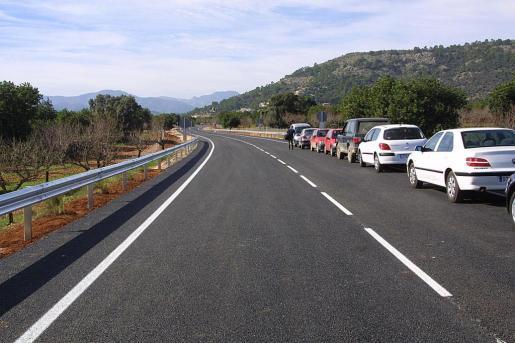 Imagen de la carretera que une Palmanyola, Bunyola y Santa María, donde se ha producido el accidente mortal de este miércoles.