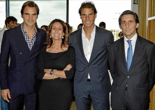 Roger Federer, Inma Benito, Rafa Nadal y José María Álvarez-Pallete.