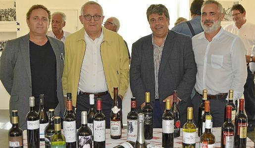 Mateu Crespí, Guillem Caldès, Biel Ferragut y Joan Antoni Cantarellas.