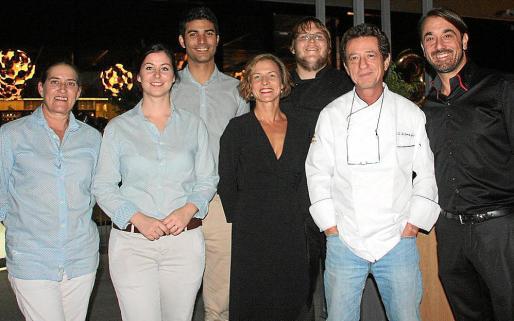 Quica Jiménez, Ana Martín, José Molina, Cristina Pérez, Stefan Brunner, Gerhard Schwaiger y Juan Luis Biedma.