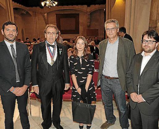 Josep Claverol, Pere Riutort, Margalida Frontera, Toni Aguiló y Pep Lluís Pons. Fotos: Jaume Morey