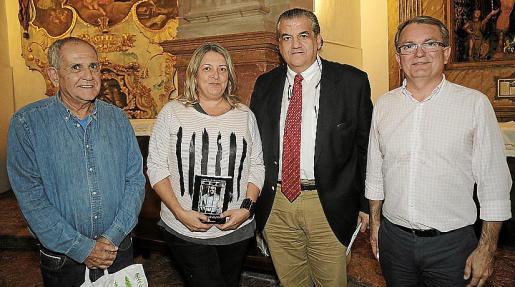 Izquierda: Tomeu Vidal, Victoria Fullana, Climent Garau y Joan Rotger.