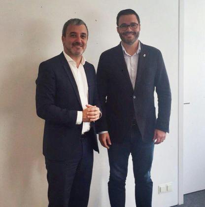 El alcalde de Palma se ha reunido con el segundo teniente de alcalde del Ajuntament de Barcelona, Jaume Collboni.