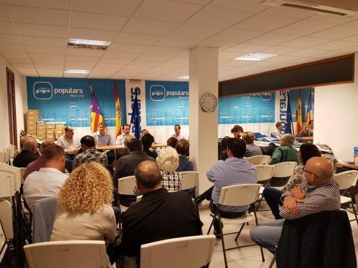 Uno de los momentos de la celebración de la Junta Local del PP de Marratxí.
