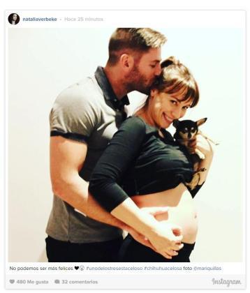 Natalia Verbeke y Marcos Poggi han anunciado que van a ser padres con esta romántica imagen.