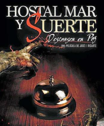 El cartel de 'Hostal Mar y Suerte'.