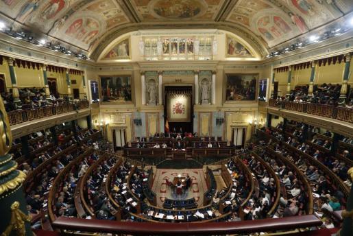 Vista general del hemiciclo del Congreso de los Diputados.