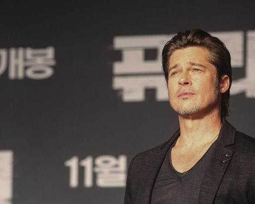 El actor estadoundense Brad Pitt.