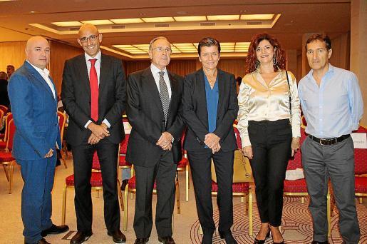 Josep Lluís Aguiló, Antonio Sánchez Grao, Fernando Alzamora, Carmen Serra, Antonia Estelrich y Jaime Canudas.