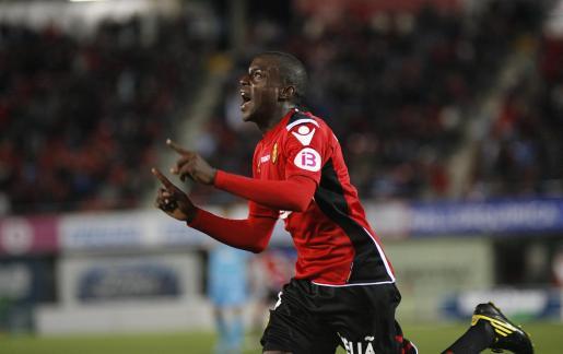 Pereira, celebrando un gol.