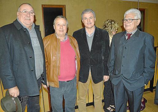 Jaume Estrany, Toni Serra, Biel Llobera y Pep Sánchez.