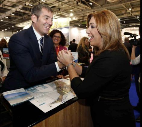 Susana Díaz, fotografiada recientemente como embajadora de Andalucía en la World Travel Market de Londres.