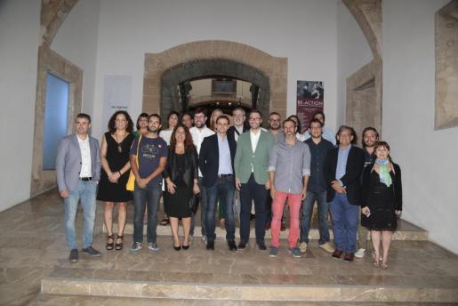 Las autoridades, retratadas durante la pasada Nit de l'Art, en el Casal Solleric.