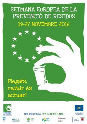 Póster de la Semana Europea de Prevención de Residuos, que se llevará a cabo del 19 al 27 de noviembre.