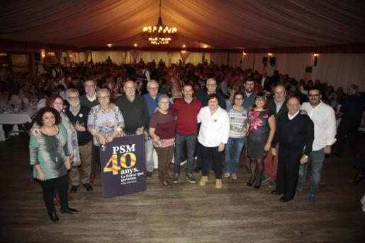 Momento de la celebarción de los 40 años del PSM-Entesa.