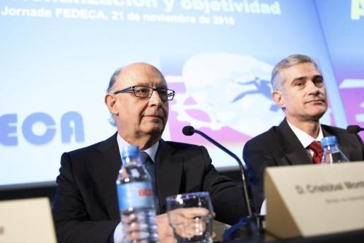 El ministro de Hacienda y Función Pública, en su intervención en el acto organizado por Fedeca.