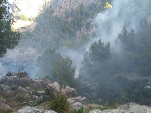 Imagen de la zona afectada por el fuego.