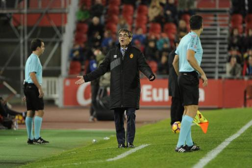 En la imagen, Vázquez en el partido disputado entre el RCD Mallorca y el Sevilla Atlético, en el Iberostar Estadi.