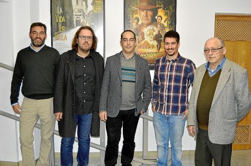 Josep Villalonga, Tomàs Vivot, Jaume Albertí, Esteve Nicolau y Ramón Rosselló.