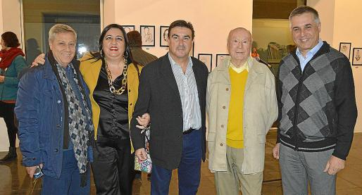 Basilio Escudero, Soledad Hidalgo, Bibi, Onofre Prohens y Mateu Jaume.