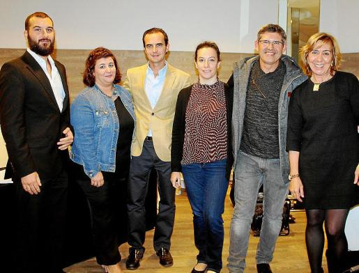 Alberto Mateu, Catalina Mas, Manuel del Cuerpo, Belén Marquez, Miquel Puigserver y Concha Fra.
