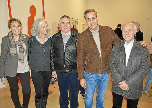 Francisca Cirer, Maria Antònia Mateu, Antoni Rodríguez, Valentí Valls y Jaume Ramis.