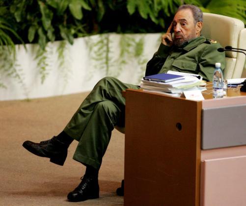 Imagen de archivo del Fidel Castro durante una conferencia en La Habana.