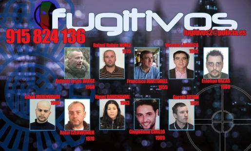 La Policía Nacional ha solicitado la colaboración ciudadana para localizar a diez fugitivos que podrían esconderse en España.