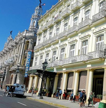 Los hoteles de La Habana, como el Inglaterra, son los más demandados por los grupos turísticos baleares.