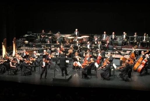 Imagen de la Orquestra Simfònica de les Illes Balears, durante un concierto.
