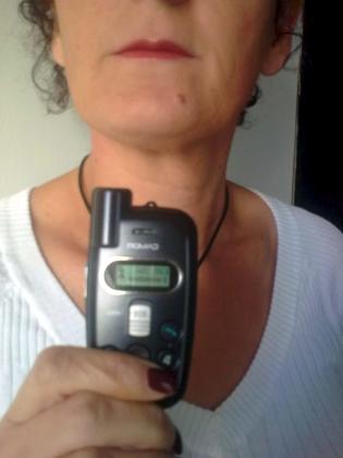 María, en algún lugar de la Península, con su GPS para alertar en caso de que su marido la localice.