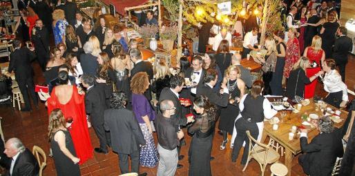 Vista del salón de Son Termes que acogió a los asistentes, que degustaron una exquisita variedad gastronómica.
