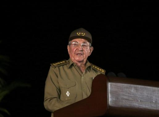 Raul Castro durante su discurso.