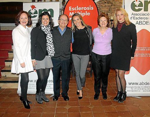 Xisca Domenge, Solima y Sebastià Veny, Elena Pérez, Asunción Rosselló y Pilar Ortiz.