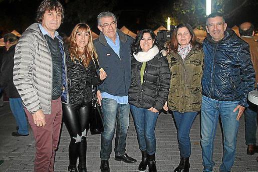 Llorenç Galmés, Antònia Batle, Sebastià Galmés, Pepi Expósito, Victoria Carmona y José Robert.