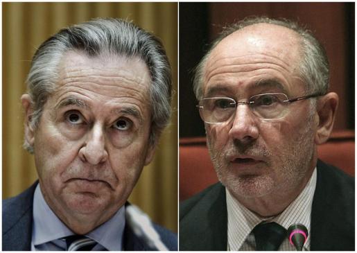 Fotografías de archivo de los expresidentes de Caja Madrid Miguel Blesa (i) y Rodrigo Rato (d).