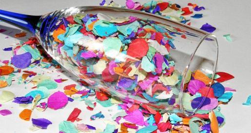 En la imagen, el confeti tradicional de las fiestas navideñas.